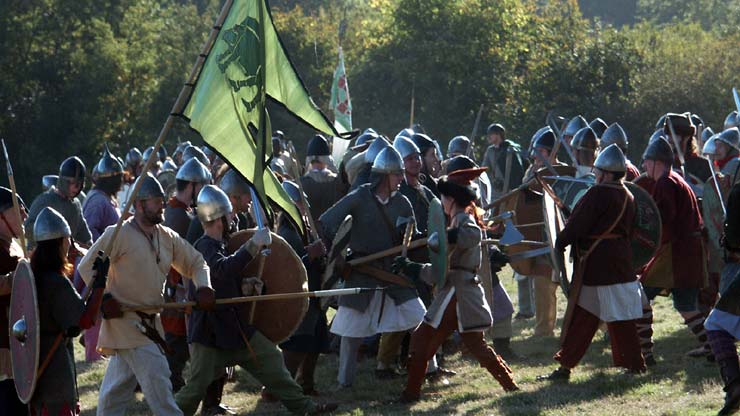 Saxons and Normans meet at the Battle of Hastings
