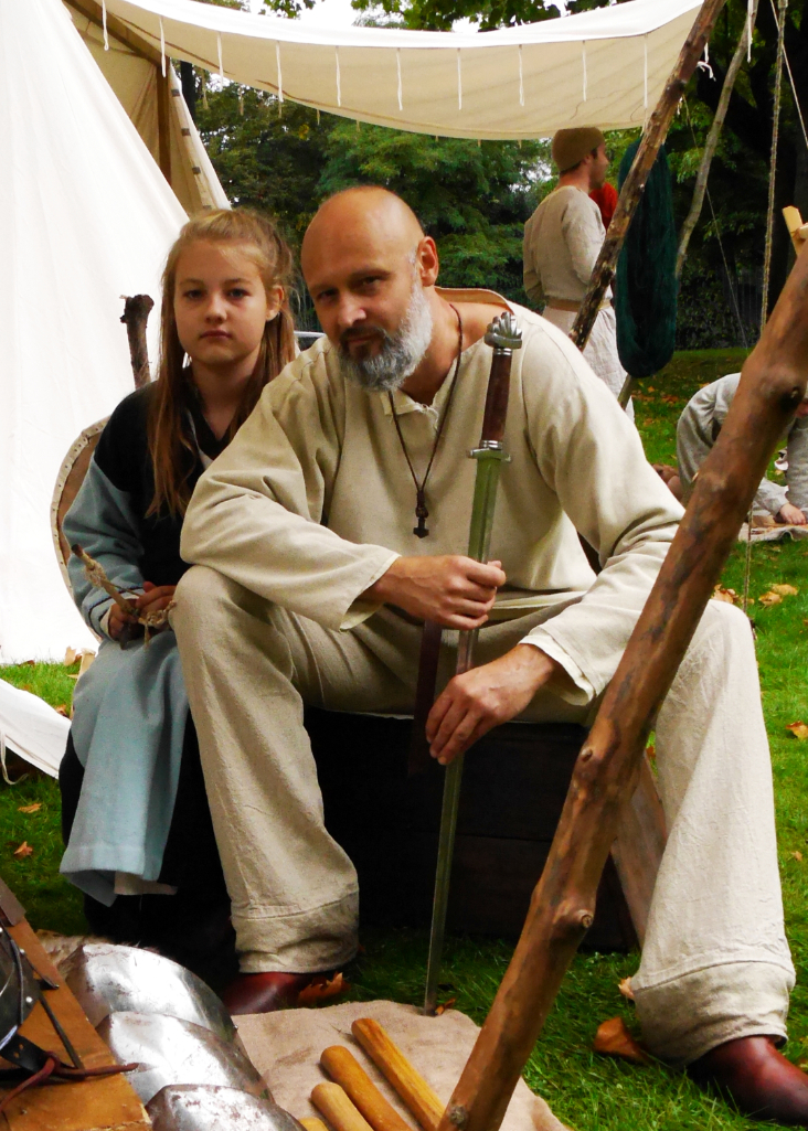 Father and daughter vikings!