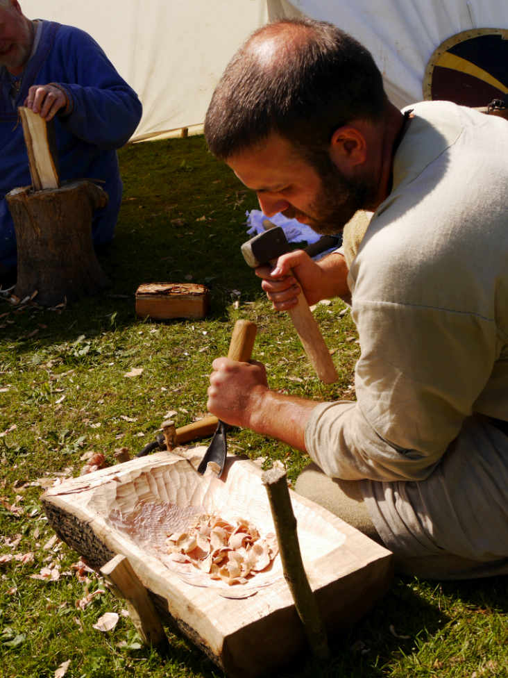 Carving a Wooden Bowl